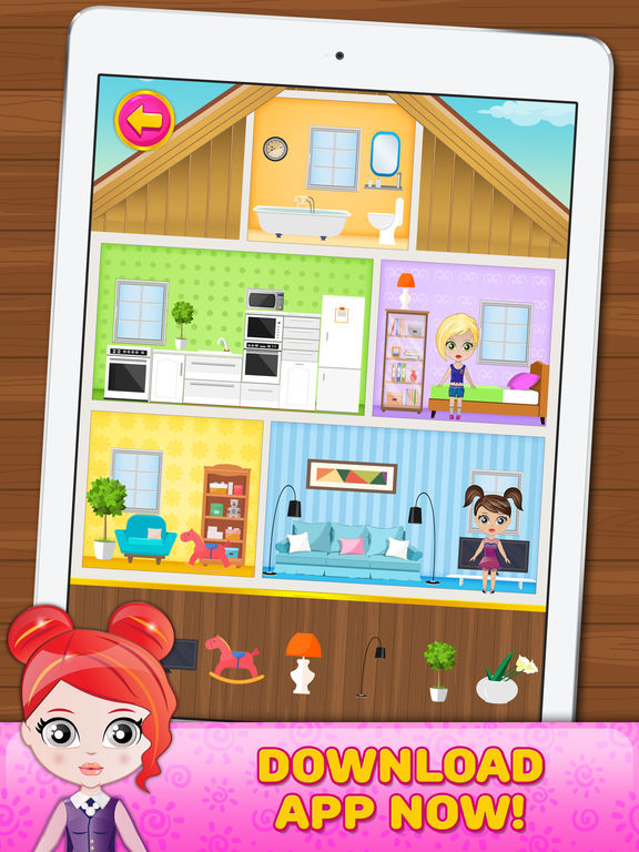 App shopper doll house decorating game games for Home decorating app