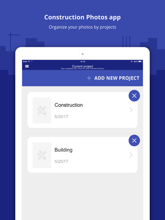 Construction photos app by snappii corporation for Application ipad construction maison