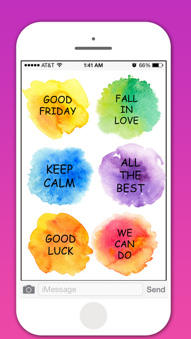 Watercolor Greetings Stickers Pack screenshot 4