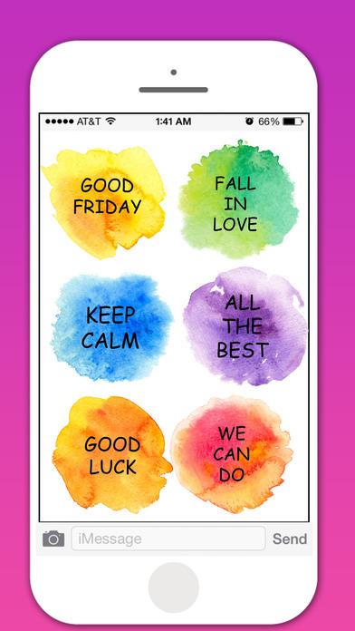 Watercolor Greetings Stickers Pack screenshot 4