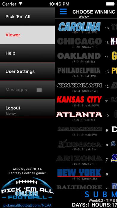 Pick 'Em All Football Screenshots