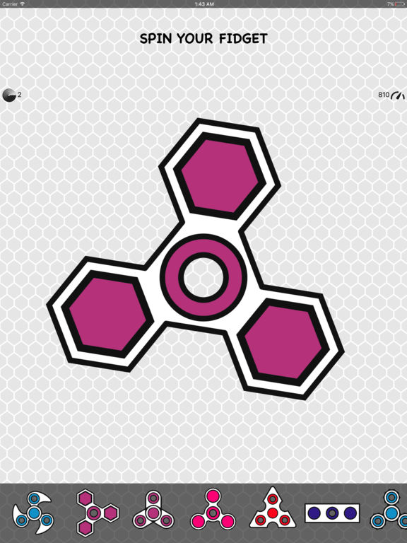 Screenshot #2 for Fidget Spinner App & Stickers