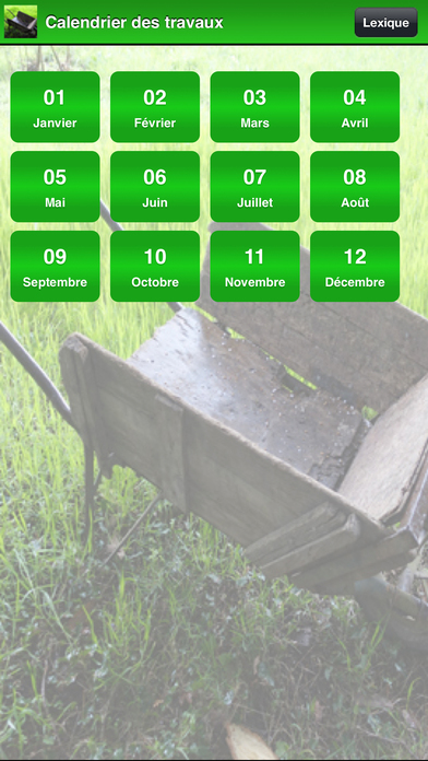 Calendrier des travaux du jardin app report on mobile action for Calendrier jardin
