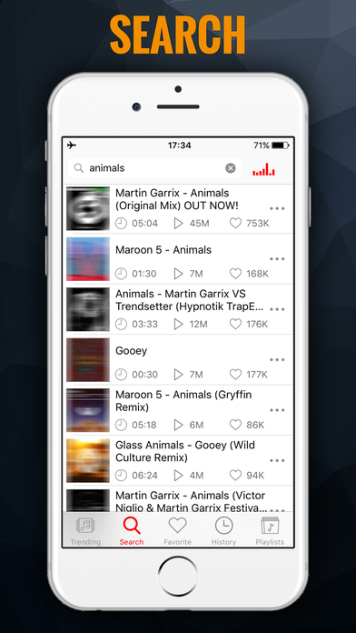 iMusic BG - MP3 Songs Player & Fast Music Streamer Screenshot 1