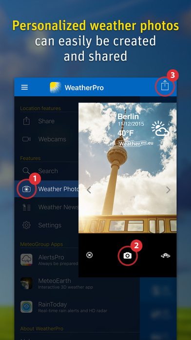WeatherPro Screenshots
