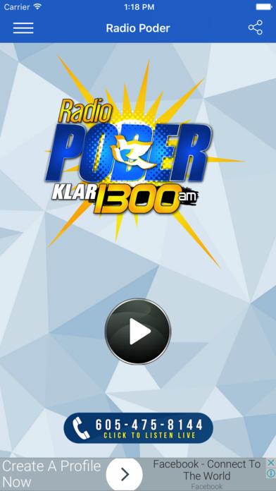 Radio Poder 1300 AM - Lite screenshot 1