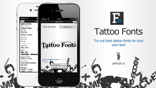 Tattoo Fonts - design your text tattoo Screenshots