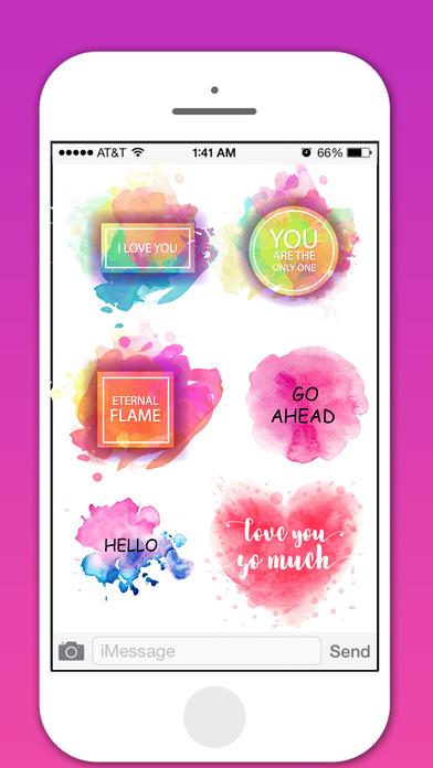 Watercolor Greetings Stickers Pack screenshot 2