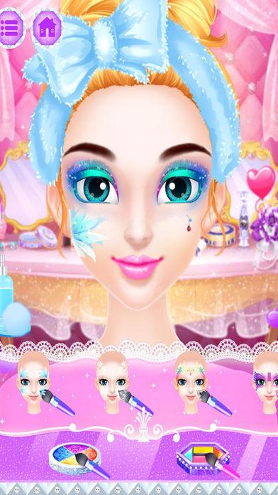 魔法冰雪公主 - 女生化妆游戏