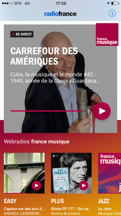 radio france actu culture musiques en direct app. Black Bedroom Furniture Sets. Home Design Ideas