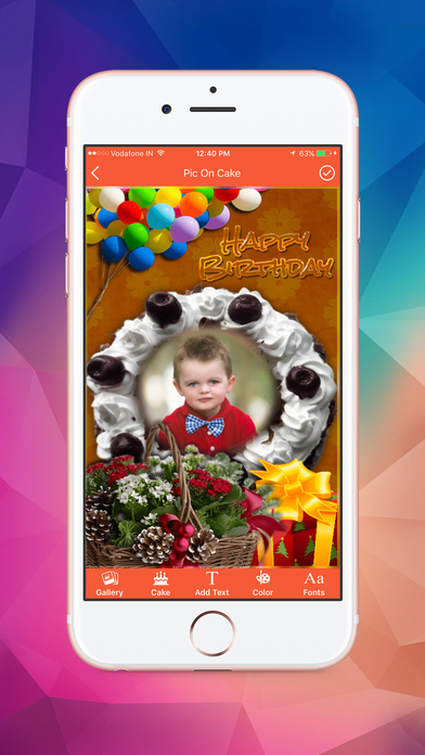Name and Photo on Birthday Cakes screenshot 4