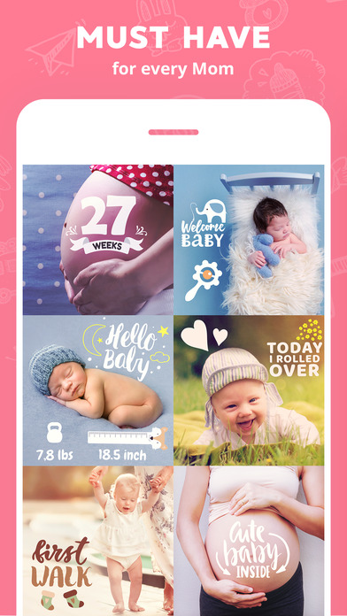 Lil Pics: Baby Milestones & Pregnancy Photo Editor 앱스토어 스크린샷