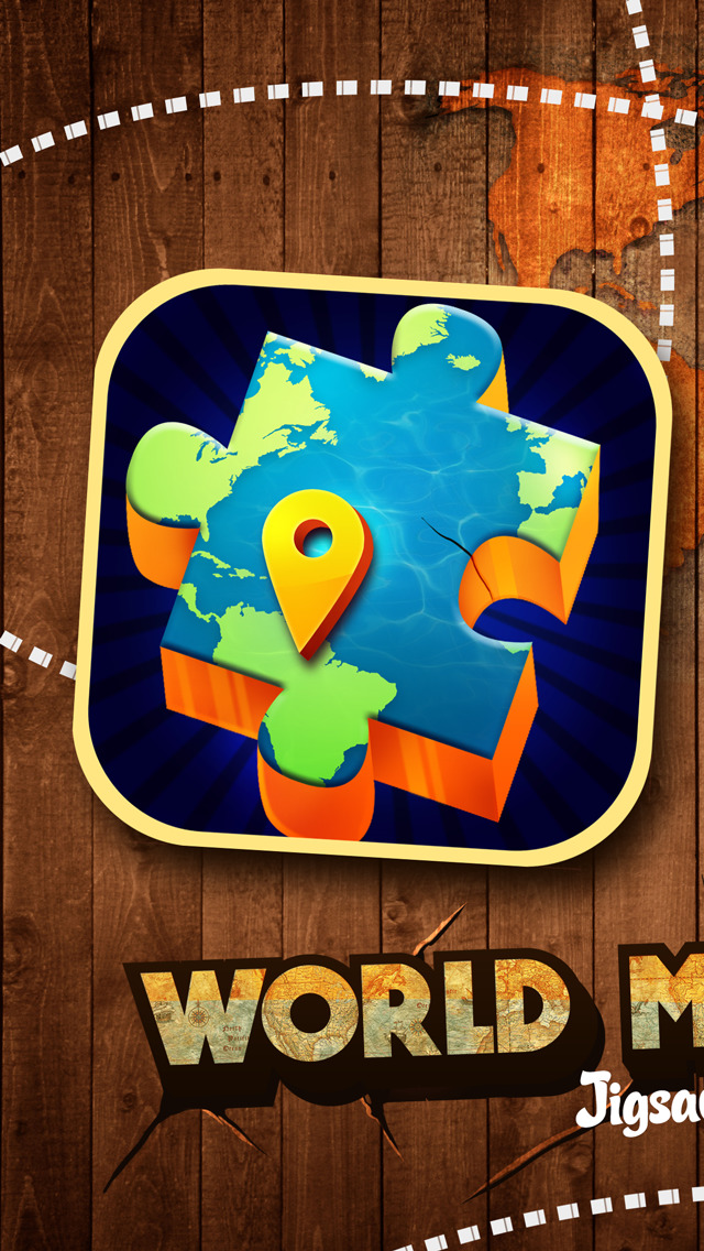 World map jigsaw puzzle for kids and adults learning game screenshots iphone ipod screenshots iphone ipod gumiabroncs Gallery