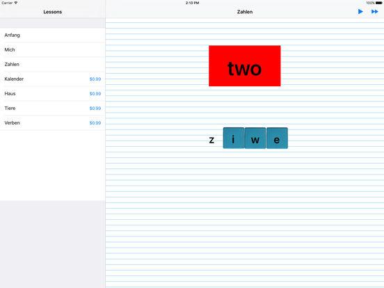 iSpell German iPad Screenshot 1