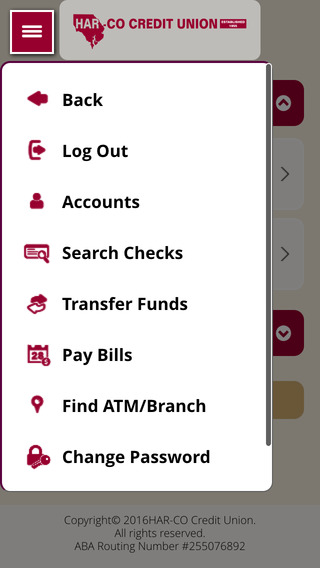 Harco Credit Union iMobile App iPhone Screenshot 3