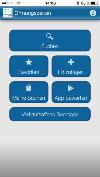 Öffnungszeiten iPhone Screenshot 5
