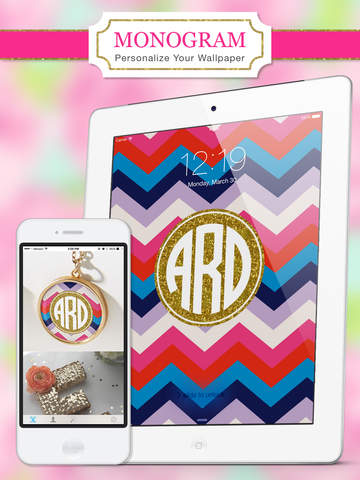 Monogram Lite - Wallpaper & Backgrounds Maker HD with Glitter themes free screenshot