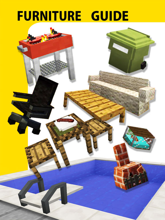 Screenshots of Furniture Mod, Guide, Video - Game Pocket Wiki for Minecraft PE & PC Edition for iPad