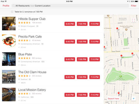 Opentable restaurant reservations reviews menus local for Table 52 opentable