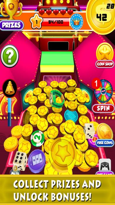 Screenshot 1 Монета бульдозер казино: Голден Слоты Монеты Толкатель автомат и удачливы вращение колеса Игры