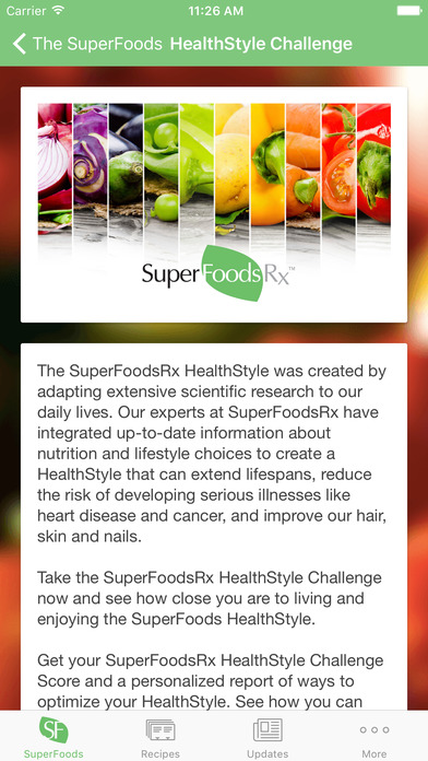 SuperFoodsRx - Essential Guide To Your Nutrition, Health & Wellness iPhone Screenshot 2