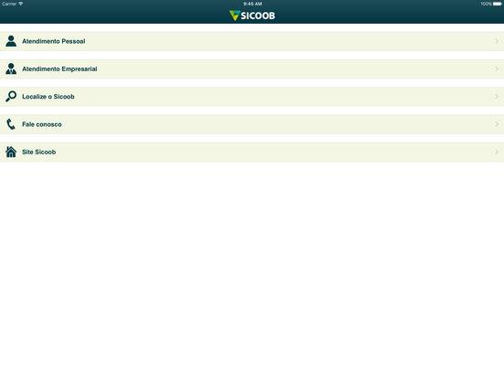 Sicoob iPad Screenshot 2