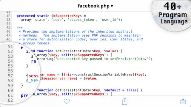 TextCode - Code Editor with GitHub Repository Screenshots