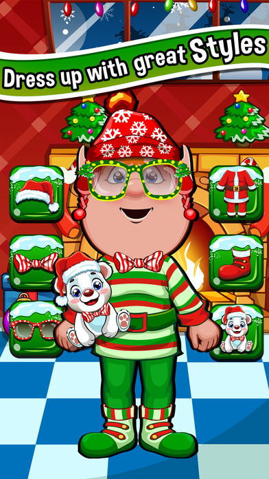 Christmas salon spa hair makeover games for kids app for Salon games free download