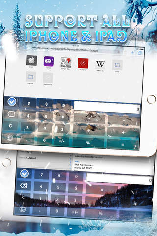 Calculator Wallpaper Frozen and Winter Keyboard screenshot 2