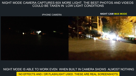 Long exposure camera WD21.Night vision photo/video Screenshots