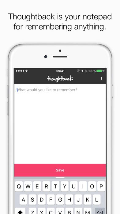 Thoughtback iPhone Screenshot 1