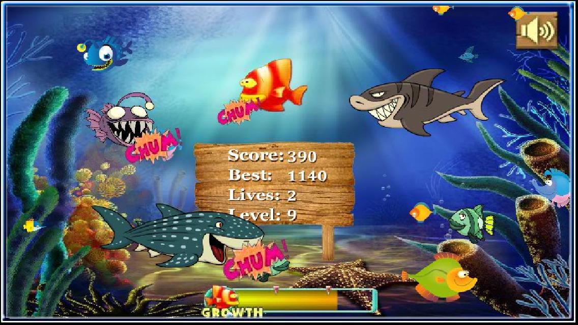 App shopper eating fish games for Fish eat fish game