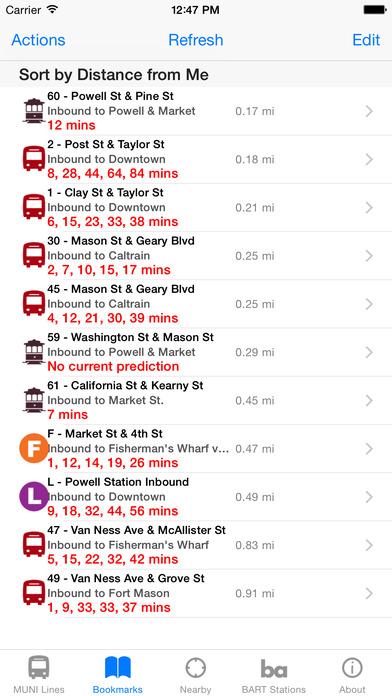 MuniApp iPhone Screenshot 2