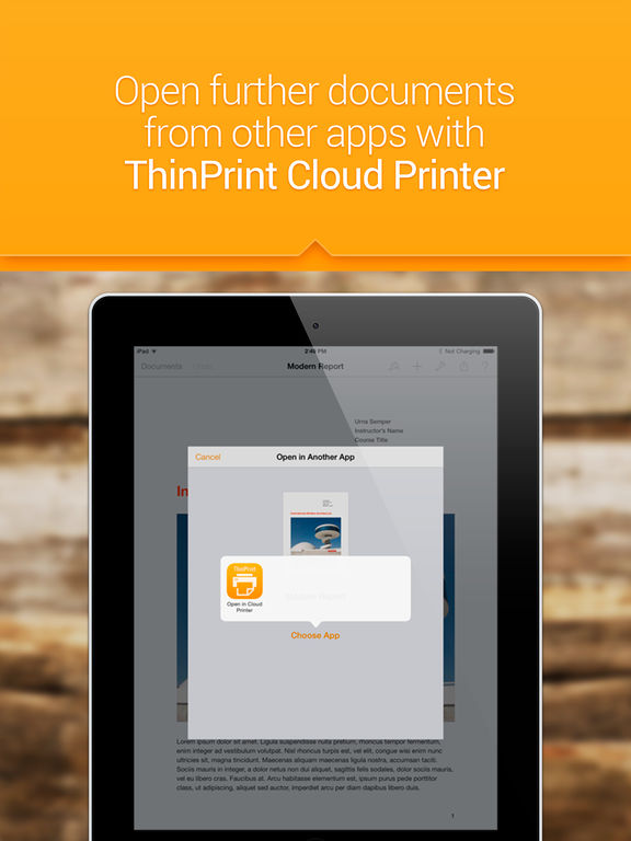 ThinPrint Cloud Printer – Print directly via WiFi / WLAN or via cloud to any printer Скриншоты9