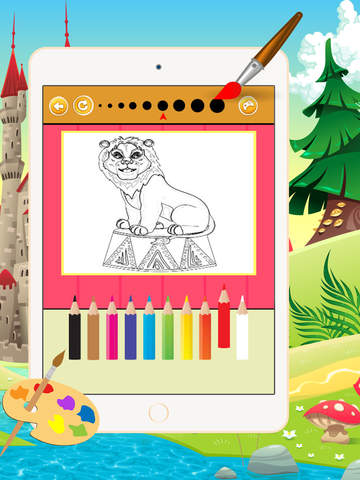 Мультфильм Цирк Книжка-раскраска - Все в 1 животных рисунок и живопись Красочный для детей игры бесплатно Скриншоты8