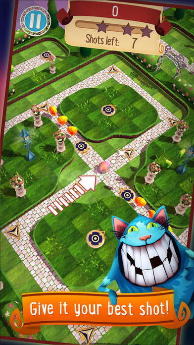 Alice in Wonderland Puzzle Golf Adventures Screenshot