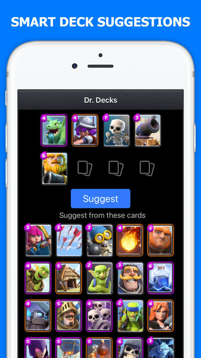 Dr decks for clash royale free download ver 2 9 for for Clash royale deck arc x