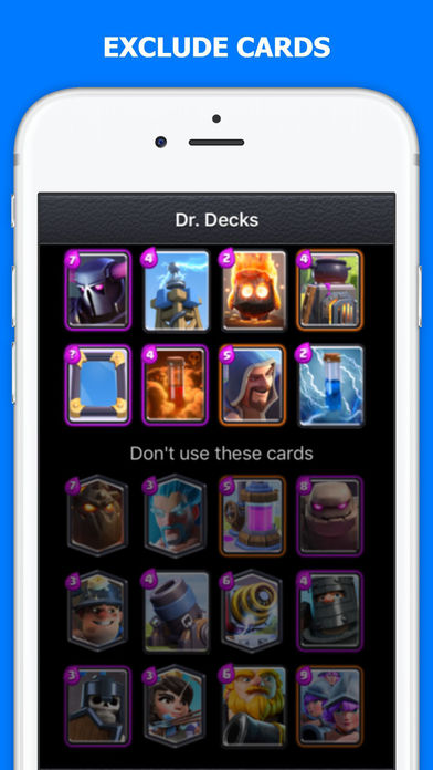 Screenshot 3 Dr. Decks for «Clash Royale»