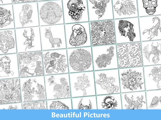 Secret Coloring Book - Free Anxiety Stress Relief & Color Therapy Pages for Adultscreeshot 2