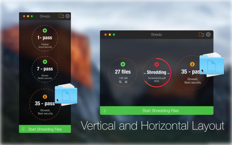Shredo - file shredder and privacy cleaner Screenshots