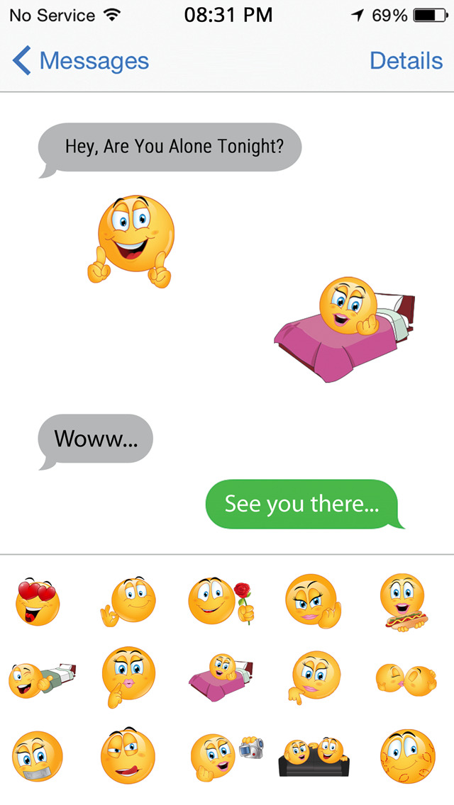 Dirty text message emoticons