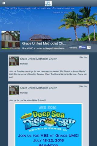 Grace UMC Newport News screenshot 2