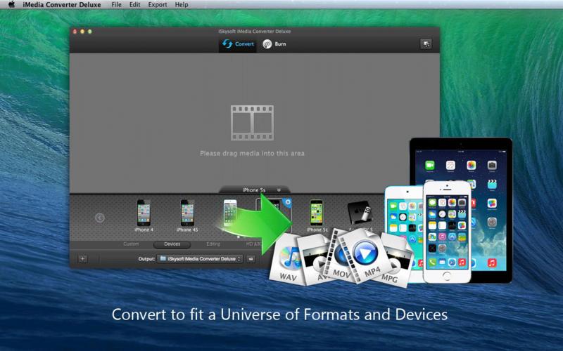 iSkysoft iMedia Converter Deluxe Screenshot - 1