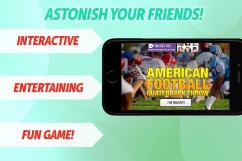 Free Football Quarterback Throw screenshot 1