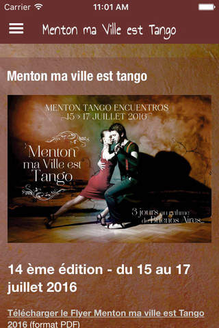 Tango Menton screenshot 2