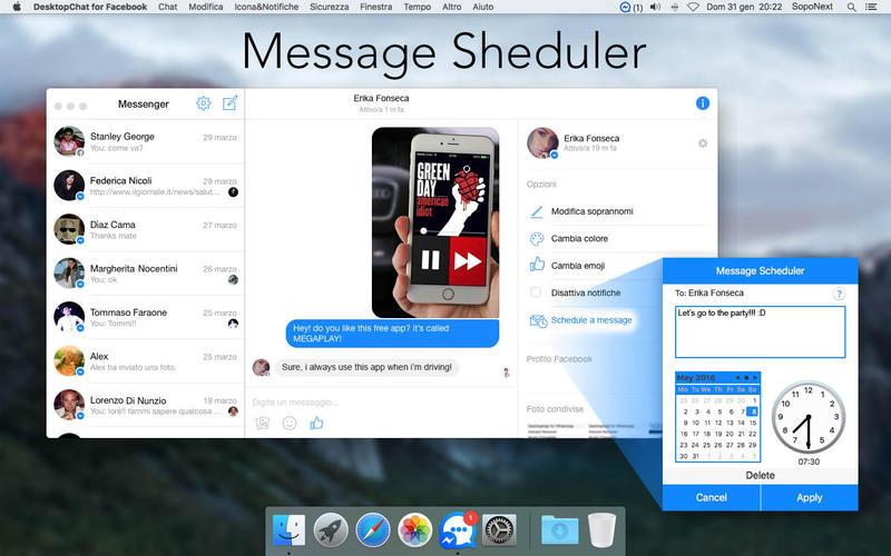 DesktopChat for Facebook Screenshot - 3
