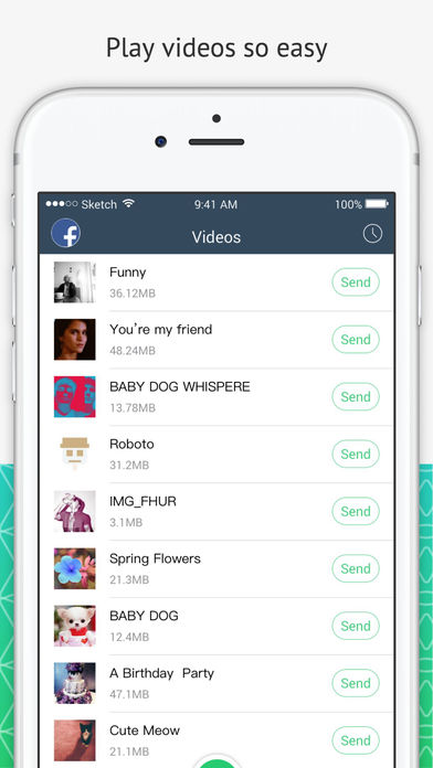 Screenshots of Xender for iPhone