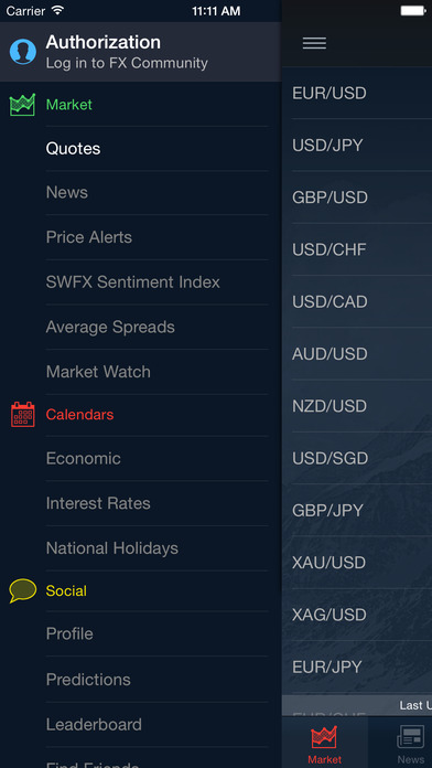Real time forex quotes