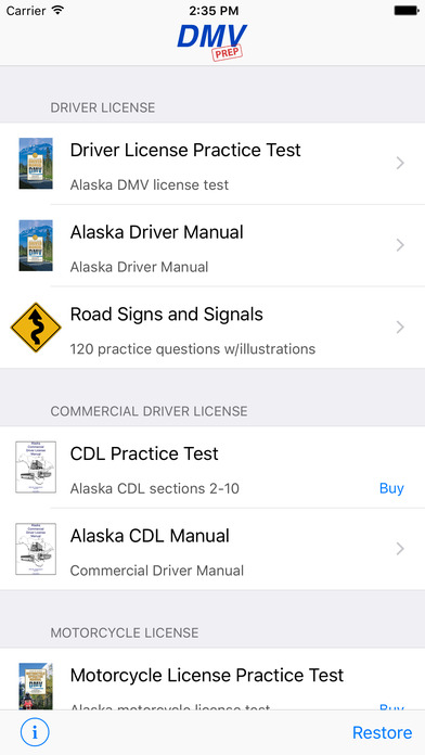 DMV Test Prep - Alaska iPhone Screenshot 1