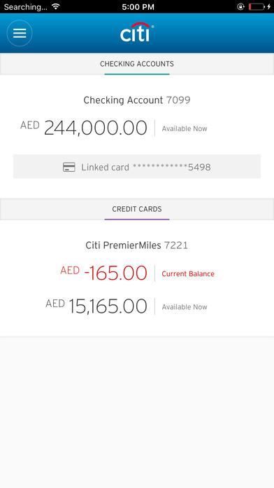 Citibank UAE iPhone Screenshot 4